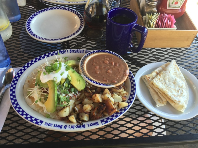 Pacific Coast Highway Stop 1: Breakfast at Peet's Breakfast House | Best Tex-Mex Style breakfast yet!